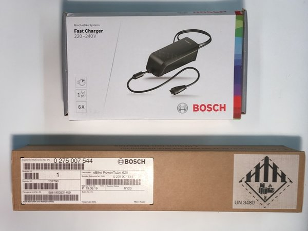 Bosch Powertube Bundle 6 - Bosch Powertube 625Wh Vertical battery + Fast 6A charger