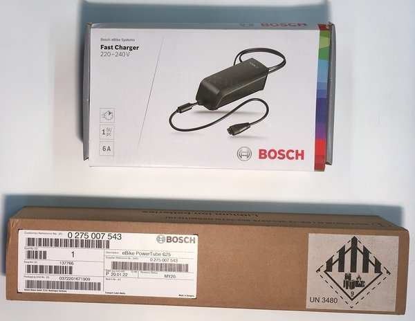 Bosch Powertube Bundle 8 - Bosch Powertube 625Wh Horizontal battery + Fast 6A charger